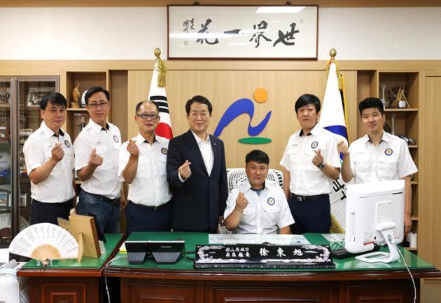 9월 7일 달동 자율방범대 임원진 내방
