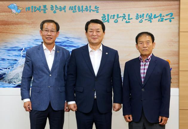 10월 11일 한국장수축구협회 영남지회장 내방